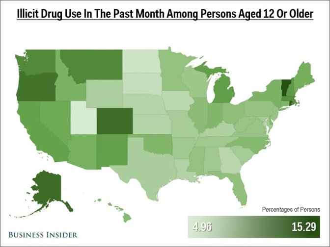 15 Maps That Show American Drug Use