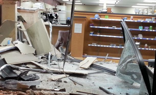 DUI driver crashes into pharmacy, then flees to bar next door & resumes drinking